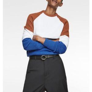 NWT Zara Chunky Color Block Sweater